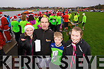 Shauna Flynn with Malachy Joey and Katie Nagle, who took part in the Santa 5k fun run at Tralee Bay Wetlands on Sunday.