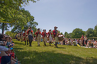 British Army Reenactors, Monmouth Battlefield State Park, New Jersey