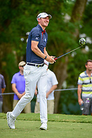 Chris Wood (ENG) watches his tee shot on 5 during Friday's round 2 of the PGA Championship at the Quail Hollow Club in Charlotte, North Carolina. 8/11/2017.<br /> Picture: Golffile | Ken Murray<br /> <br /> <br /> All photo usage must carry mandatory copyright credit (&copy; Golffile | Ken Murray)