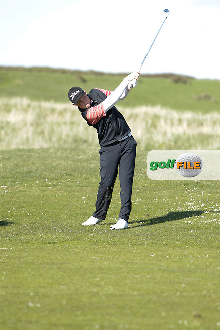 Eanna Griffin (Waterford) during round 1 of The West of Ireland Amateur Open in Co. Sligo Golf Club on Friday 18th April 2014.<br /> Picture:  Thos Caffrey / www.golffile.ie