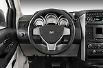 Steering wheel deatil view of a 2008 Dodge Caravan