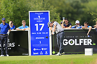 Cormac Sharvin (NIR) tees off the 17th tee during Sunday's Final Round of the Northern Ireland Open 2018 presented by Modest Golf held at Galgorm Castle Golf Club, Ballymena, Northern Ireland. 19th August 2018.<br /> Picture: Eoin Clarke | Golffile<br /> <br /> <br /> All photos usage must carry mandatory copyright credit (&copy; Golffile | Eoin Clarke)