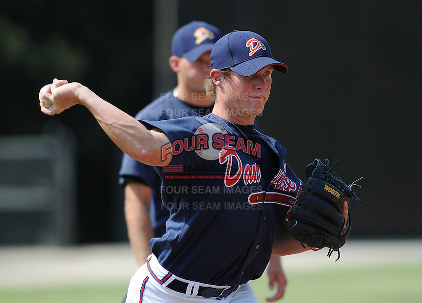 June 19, 2008: Photo of the Danville Braves, rookie Appalachian League affiliate of the Atlanta Braves, prior to a game against the Burlington Royals at Dan Daniel Memorial Park in Danville, Va. Photo by:  Tom Priddy/Four Seam Images