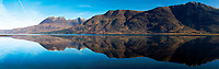 Beinn Alligin and Liathach reflected in Upper Loch Torridon, Annat, Ross & Cromarty, Northwest Highlands