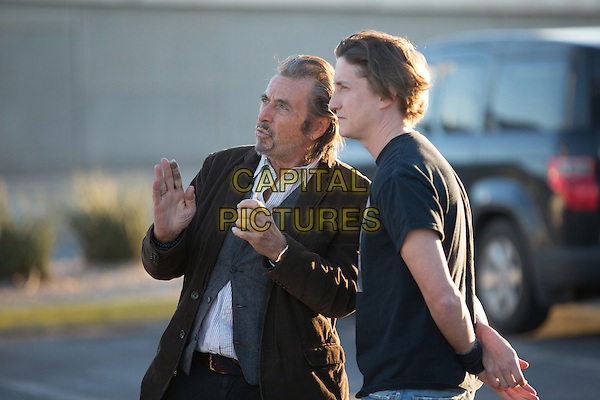 Al Pacino, David Gordon Green (Director)<br /> on the set of Manglehorn (2014) <br /> *Filmstill - Editorial Use Only*<br /> CAP/FB<br /> Image supplied by Capital Pictures