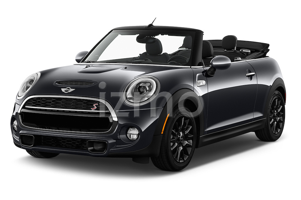 2017 MINI Cooper S 2 Door Convertible Angular Front stock photos of front three quarter view