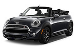 2016 MINI Cooper S 2 Door Convertible Angular Front stock photos of front three quarter view