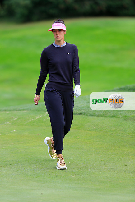 Michelle Wie (USA) walks onto the 6th green during Friday's Round 2 of The 2016 Evian Championship held at Evian Resort Golf Club, Evian-les-Bains, France. 16th September 2016.<br /> Picture: Eoin Clarke | Golffile<br /> <br /> <br /> All photos usage must carry mandatory copyright credit (&copy; Golffile | Eoin Clarke)