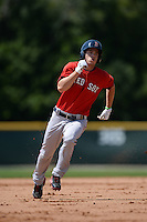 Boston Red Sox Mike Meyers (2) during a minor league spring training game against the Baltimore Orioles on March 18, 2015 at Buck O'Neil Complex in Sarasota, Florida.  (Mike Janes/Four Seam Images)