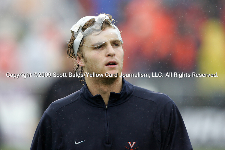 13 December 2009: Virginia's Greg Monaco. The University of Akron Zips played the University of Virginia Cavaliers at WakeMed Soccer Stadium in Cary, North Carolina in the NCAA Division I Men's College Cup Championship game.
