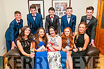 Listowel Debs: Pictured prior to departure to the annual Listowel schools debs Ball at the Brandon Hotel on Thursday evening last were in front Muireann Carmody, Aoife Hennessy, Muireann O'Connor, Roisin Carey & Ciara O'Brien. Back : Mathew Finnucane, Michael Heaphy, Jason Kenny, Jack Hennessy & Sam Tarrant.
