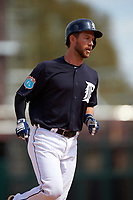 Detroit Tigers catcher Austin Green (71) runs the bases after hitting a home run during an exhibition game against the Florida Southern Moccasins on February 29, 2016 at Joker Marchant Stadium in Lakeland, Florida.  Detroit defeated Florida Southern 7-2.  (Mike Janes/Four Seam Images)