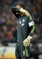 FUSSBALL   1. BUNDESLIGA  SAISON 2012/2013   7. Spieltag   FC Schalke 04 - VfL Wolfsburg        06.10.2012 Torwart Diego Benaglio (VfL Wolfsburg) enttaeuscht