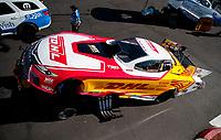 Nov 2, 2019; Las Vegas, NV, USA; NHRA funny car driver J.R. Todd during qualifying for the Dodge Nationals at The Strip at Las Vegas Motor Speedway. Mandatory Credit: Mark J. Rebilas-USA TODAY Sports