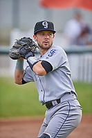 Max George (8) of the Grand Junction Rockies before the game against the Ogden Raptors at Lindquist Field on June 17, 2019 in Ogden, Utah. The Rockies defeated the Raptors 9-0. (Stephen Smith/Four Seam Images)