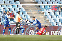 07.04.2012 SPAIN -  La Liga matchday 32th  match played between Getafe vs Sporting at Coliseum Alfonso Perez stadium (2-0). Picture show Nicolas Ladislao MIKU (Forward of Getafe)