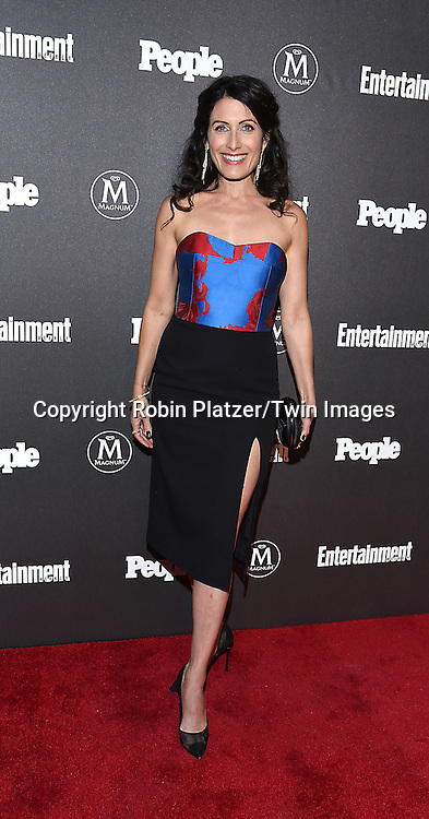 Lisa Edelstein attends the Entertainment Weekly &amp; PEOPLE Magazine New York Upfronts Celebration on May 16, 2016 at Cedar Lake in New York, New York, USA.<br /> <br /> photo by Robin Platzer/Twin Images<br />  <br /> phone number 212-935-0770