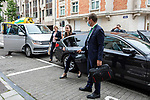 Brussels - Belgium - 1 7 July 2020 -- EU-Summit with Heads of State - European Council meeting - Presidency of Germany. -- Sanna Marin, Prime Minister of Finland arriving to the Permanent Representation of Finland to the EU for her press conference. -- PHOTO: Juha ROININEN / EUP-IMAGES