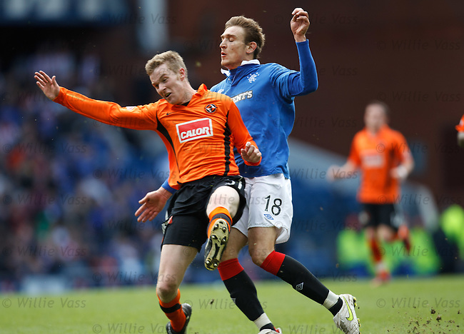 Nikica Jelavic taken out by last man Paul Dixon