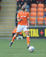 Blackpool's Liam Feeney shows his frustration at a poor pass<br /> <br /> Photographer Kevin Barnes/CameraSport<br /> <br /> The EFL Sky Bet League One - Blackpool v Peterborough United - Saturday 13th April 2019 - Bloomfield Road - Blackpool<br /> <br /> World Copyright &copy; 2019 CameraSport. All rights reserved. 43 Linden Ave. Countesthorpe. Leicester. England. LE8 5PG - Tel: +44 (0) 116 277 4147 - admin@camerasport.com - www.camerasport.com