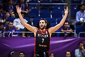 5th September 2017, Fenerbahce Arena, Istanbul, Turkey; FIBA Eurobasket Group D; Turkey versus Belgium; Power Forward Axel Hervelle #7 of Belgium reacts during the match