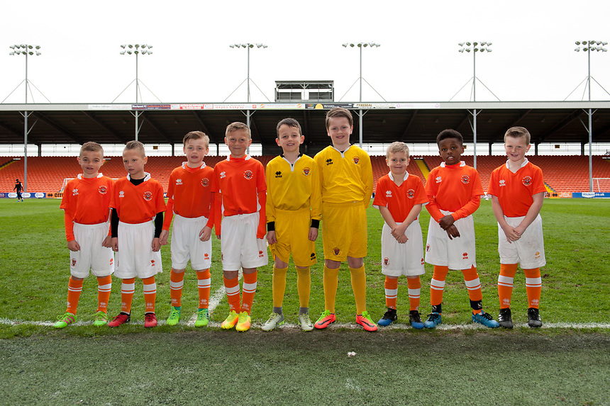 Blackpool football academy players<br /> <br /> Photographer Terry Donnelly/CameraSport<br /> <br /> The EFL Sky Bet League Two - Blackpool v Accrington Stanley - Friday 14th April 2017 - Bloomfield Road - Blackpool<br /> <br /> World Copyright &copy; 2017 CameraSport. All rights reserved. 43 Linden Ave. Countesthorpe. Leicester. England. LE8 5PG - Tel: +44 (0) 116 277 4147 - admin@camerasport.com - www.camerasport.com
