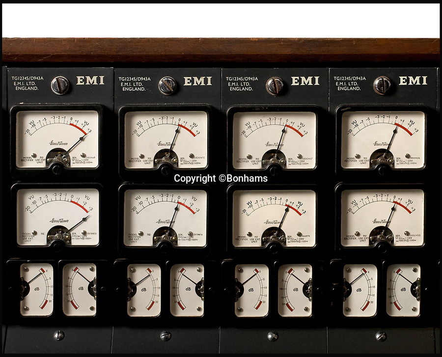 BNPS.co.uk (01202 558833)<br /> Pic: Bonhams/BNPS<br /> <br /> A recording console used to produce Pink Floyd's iconic Dark Side of the Moon album has sold for a staggering £1,434,231.<br /> <br /> Between 1971 and 1983, the 1971 EMI TG12345 MK IV console was housed in Studio 2 at the famous Abbey Road studios.<br /> <br /> After a sterling 12 year run during which it was used by three of the Beatles, Paul McCartney, George Harrison and Ringo Starr, as well as Kate Bush and The Cure, the console was replaced by a more advanced model. <br /> <br /> Since then, it has belonged to a producer Mike Hedges, who worked at Abbey Road at the time.