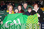 FLYING THE FLAG: Flying the flag for Castle in the Gaelic Grounds, Limerick on Sunday l-r: Anne Dennehy, Mark Kelly, Maria, Tim, Claire and Helen Dennehy.