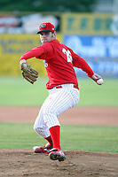 June 18th 2008:  Pitcher Jameson Maj of the Batavia Muckdogs, Class-A affiliate of the St. Louis Cardinals, during a game at Dwyer Stadium in Batavia, NY.  Photo by:  Mike Janes/Four Seam Images