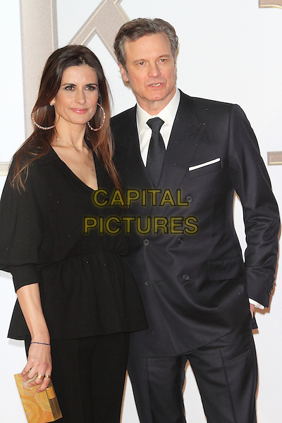 LONDON, ENGLAND - JANUARY 14: Livia and Colin Firth attends the World Premiere of 'Kingsman: The Secret Service' at the Odeon Leicester Square on January 14, 2015 in London, England<br /> CAP/ROS<br /> &copy;Steve Ross/Capital Pictures