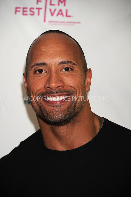 WWW.ACEPIXS.COM . . . . . ....April 25 2009, New York City....Producer Dwayne Johnson at the premiere of 'Racing Dreams' during the 2009 Tribeca Film Festival at SVA Theater on April 25, 2009 in New York City.....Please byline: KRISTIN CALLAHAN - ACEPIXS.COM.. . . . . . ..Ace Pictures, Inc:  ..tel: (212) 243 8787 or (646) 769 0430..e-mail: info@acepixs.com..web: http://www.acepixs.com