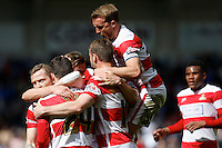 Doncaster Rovers v Coventry City, 23.4.2016<br /> Sky Bet League One<br /> Picture Shaun Flannery/Trevor Smith Photography<br /> Rovers celebrate Tommy Rowe goal.