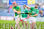 Lixnaw's Conor O'Brien gets away from Ballyduff's Padraig O'Grady in the Senior County Hurling Championship Final at Austin Stack park, Tralee on Sunday.