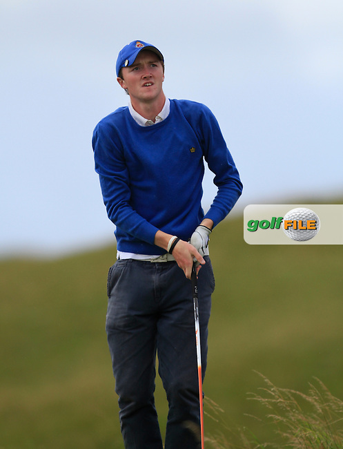 Eugene Smith (Ardee) on the 15th tee during the South of Ireland Amateur Open Championship 5th Round at Lahinch Golf Club  30th July 2013 <br /> Picture:  Thos Caffrey / www.golffile.ie