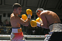Alizara Ghadiri (white shorts) defeats Jose Aguilar during a Boxing Show at York Hall on 15th February 2020