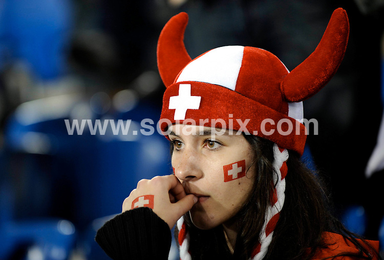 **ALL ROUND PICTURES FROM SOLARPIX.COM**.**SYNDICATION RIGHTS FOR UK AND SPAIN ONLY**.Swiss fans at the end of the European Championship tournament Euro 2008, Switzerland versus Turkey at St. Jacob-Park, Basel (Switzerland). Turkey 2 Switzerland 1. 11th June 2008..This pic: Atmosphere..JOB REF: 6618 CPR/Thomas Lohnes .DATE:11_06_2008.**MUST CREDIT SOLARPIX.COM OR DOUBLE FEE WILL BE CHARGED* *UNDER NO CIRCUMSTANCES IS THIS IMAGE TO BE REPRODUCED FOR ANY ONLINE EDITION WITHOUT PRIOR PERMISSION*