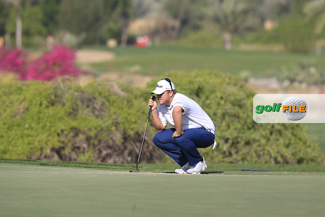 during Friday's Round 2 of the Abu Dhabi HSBC Golf Championship 2015 held at the Abu Dhabi Golf Course, United Arab Emirates. 16th January 2015.<br /> Picture: Eoin Clarke www.golffile.ie