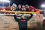 Wisconsin Badgers linebacker Jack Cichy celebrates with the Paul Bunyan Axe with his family after an NCAA College Big Ten Conference football game against the Minnesota Golden Gophers Saturday, November 25, 2017, in Minneapolis, Minnesota. The Badgers won 31-0. (Photo by David Stluka)