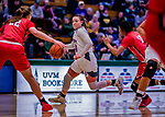 26 January 2019: University of Vermont Catamount Guard Rose Caverly, a Freshman from Brick, NJ, in action against the Stony Brook Seawolves at Patrick Gymnasium in Burlington, Vermont. The Lady Seawolves defeated the Lady Catamounts 67-61 in America East Women's Basketball. Mandatory Credit: Ed Wolfstein Photo *** RAW (NEF) Image File Available ***