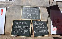 CURITIBA, PR, 01.05.2015 - PROFESSORES-PR - Manifestantes durante ato de repúdio contra violência contra os professores na última semana, o ato começou na Praça 19 de Dezembro e seguiu até a Praça Nossa Senhora de Salete, em Curitiba, nesta sexta-feira, 01, feriado Dia do Trabalho.  (Foto: Paulo Lisboa / Brazil Photo Press)