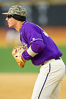 Western Carolina Catamounts first baseman Austin Neary (33) on defense against the Wake Forest Demon Deacons at Wake Forest Baseball Park on March 26, 2013 in Winston-Salem, North Carolina.  The Demon Deacons defeated the Catamounts 3-1.  (Brian Westerholt/Four Seam Images)