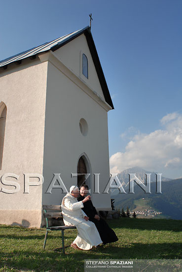Pope Benedict XVI  Danta di Cadore ,Belluno, Italy,  July 16, 2007. The Pontiff begun his Alpine vacation in the mountain resort of the Dolomites where he will remain until July 27.