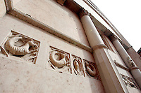 Dettaglio dell'esterno del Battistero di Parma.<br /> Exterior detail of the Baptistery of Parma.<br /> UPDATE IMAGES PRESS/Riccardo De Luca