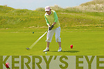 Rose Molyneaux, from Listowel tees off in the Presidents prize competition in Ballybunion on Sunday. ....   Copyright Kerry's Eye 2008