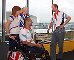 Paralympics London 2012 - ParalympicsGB - Royal Visit..The Earl of Wessex visited GB House to talk to the Athletes and the GB team  4th September 2012 held at the Olympic Stadium at the Paralympic Games in London. Photo: Richard Washbrooke/ParalympicsGB