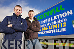 Kieran Collins with Cosyfill Insulation owner Aidan Woulfe.