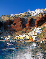 Greece; Cyclades; Santorini; Ammoudi - port beneath of Ia