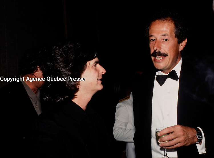 circa 1990-file Photo  filmmakers  Jean-Claude Lauzon (L) and Denys Arcand (R).