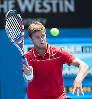 RYAN HARRISON..Tennis - Apia Sydney International -  Sydney 2013 -  Olympic Park - Sydney - NSW - Australia.Wednesday 9th January  2013. .© AMN Images, 30, Cleveland Street, London, W1T 4JD.Tel - +44 20 7907 6387.mfrey@advantagemedianet.com.www.amnimages.photoshelter.com.www.advantagemedianet.com.www.tennishead.net