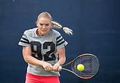 June 11th 2017, Nottingham, England;WTA Aegon Nottingham Open Tennis Tournament day 2;  Tereza Martincova of The Czec Republic warming up before her second qualifying match